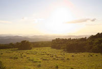 夕暮れの高原 20021006059| 写真素材・ストックフォト・画像・イラスト素材|アマナイメージズ