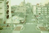 大阪の住宅街と道