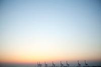 大阪港の夕焼け