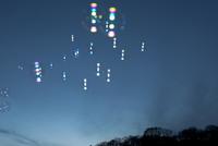 夜空に浮かシャボン玉