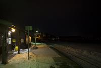 雪の藻琴駅