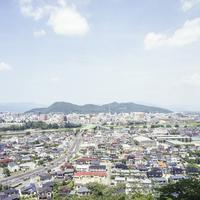 信夫山と福島市内の眺め