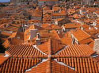 Looking across the rooftops of Dubrovnik