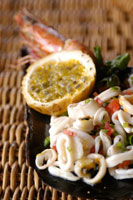 Passion fruit calamari dish