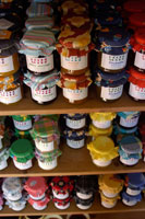 Home made jams for sale in shop