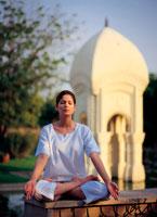 Yoga at at Oberoi Raj Vilas spa