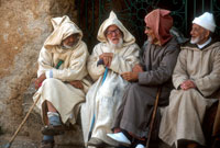 Group of Elderly Men Talking