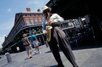 Jazz Saxophonist Dr Saxtum,Cafe du Monde