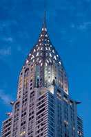 Detail of Chrysler Building at dawn