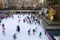 Ice skaters in Rockefeller Center