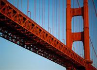 Detail of the Golden Gate Bridge
