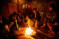 Khasi tribe talking with tourists