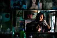 Mizo woman in beauty parlor
