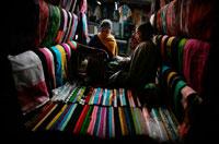 Traditional Mizo Handloom textile stall