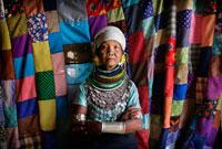 Bru tribe women in traditional dress