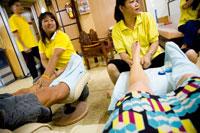 People having massages