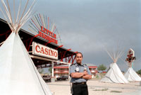 Crow Indian security guard for Casino