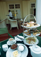 High tea on the verandah