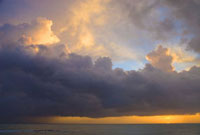 Coast of Treasure Beach at sunset