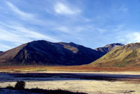 Mountains with frost - Dempster Highway