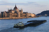 Parliament buildings on River Danube
