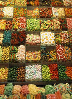 Sweets on sale at La Boqueria market