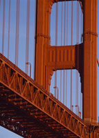 Close-up of Golden Gate Bridge