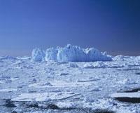 Snow landscape,Illulissat ice fjord