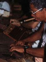 Rolling Havana cigars