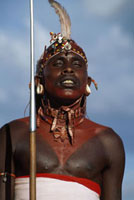 tribesman in traditional costume,