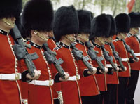 Welsh Guards on parade