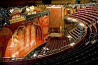 View of auditorium during rehersals