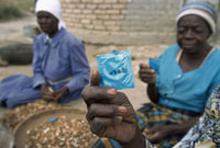 Free condoms. Aids & HIV epidemic