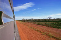 View from the Ghan Train,blurred motion
