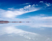 Reflection in Uyuni salt flat