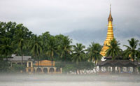 Katha Pagoda on Ayeyarwady River