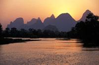 Limestone peaks around Guilin
