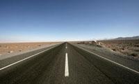 Empty desert highway