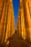 Collonade in Court of Amenophis III at dusk