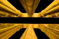 Papyrus-bundle columns in courtyard of Amenophis III