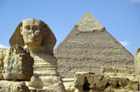 Sphinx and Khafra Pyramid