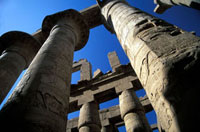 Great Hypostyle Hall at Karnak,Low Angle View