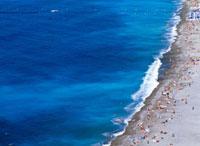 People on beach,aerial view