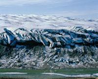 Frozen glacier at Kangerlussuaq