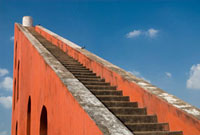 The Jantar Mantar observatory,Low Angle View