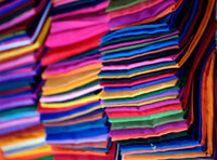 Cloth being sold in market,close up