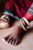 Women with anklets