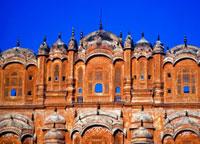 Hawa Mahal,Palace of Winds facade against clear sky,clos