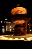 Fountain in Saint Peters Square,