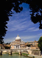 River Tiber and St Peter's Basilica